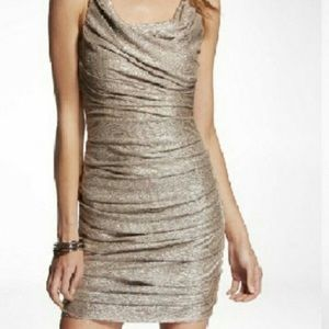 Express Metallic Rouched Cocktail Dress Size 4